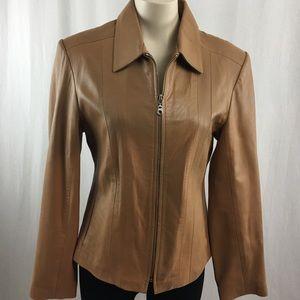 Oscar Leopold Lambskin leather Fitted Jacket L